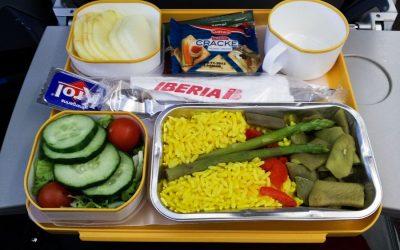 Comida vegetariana en el Avión